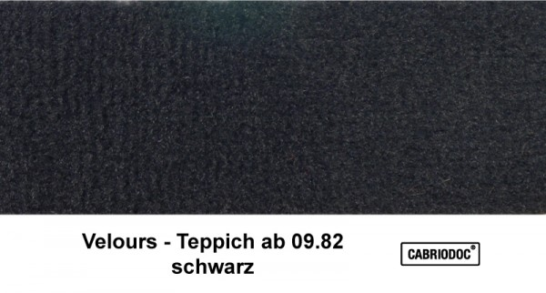 Teppich Velours weich ab ca. 09.82 Rohware MB 107