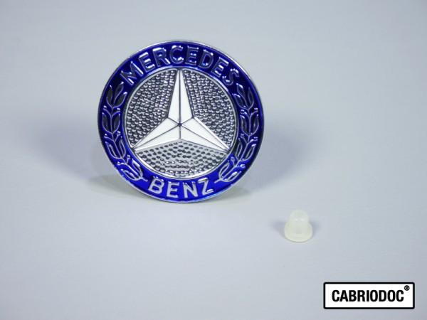 Mercedesstern Emblem auf Motorhaube MB 107