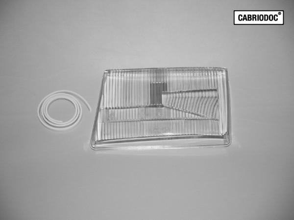 Lichtscheibe Glas Hauptscheinwerfer links mit Dichtung MB 107