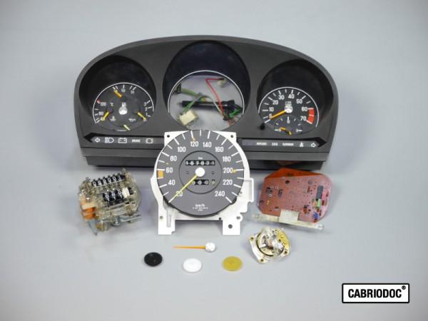 Kostenvoranschlag Reparatur Umrüstung Instrumente MB 107 SL ab ca. 03.80