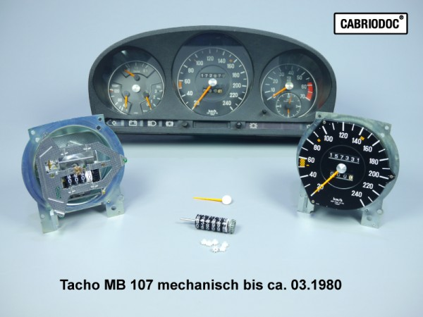 Kostenvoranschlag Reparatur Umrüstung Instrumente MB 107 bis ca. 03.80